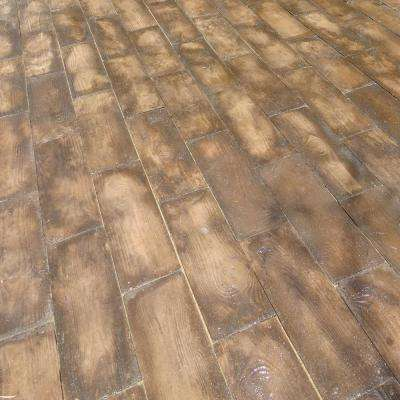 75 sq. ft. Barnwood Plank Patio-On-A-Pallet Paver Set (Brown)