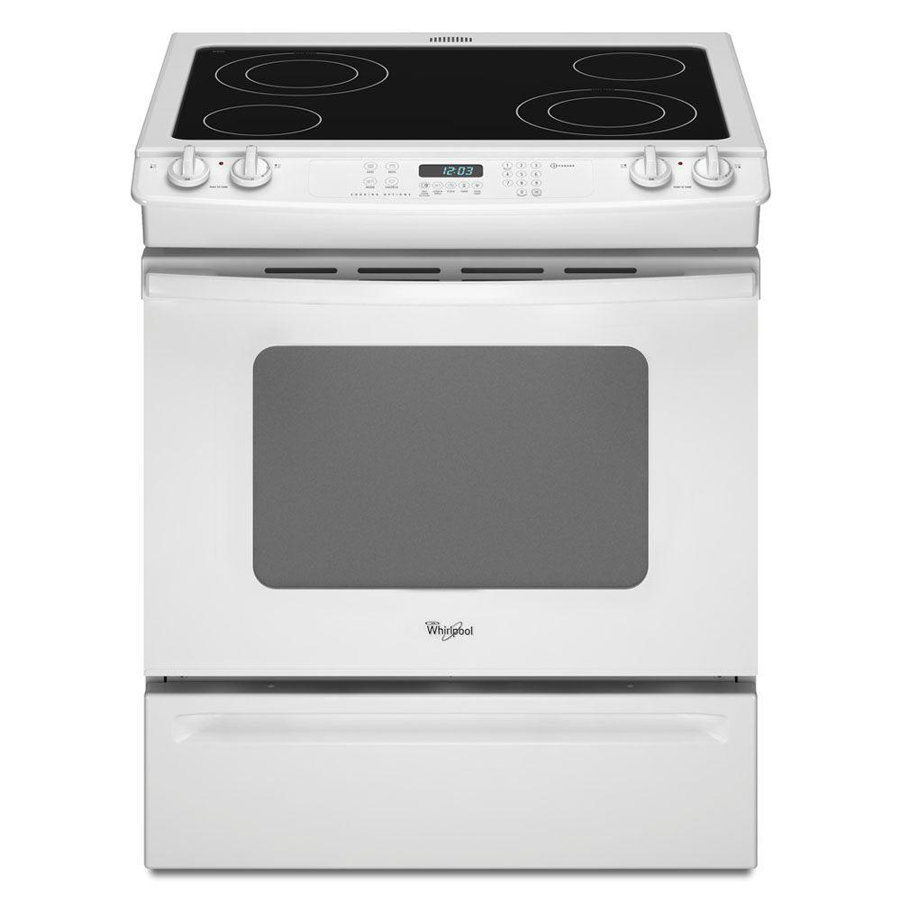 Whirlpool Gold 4.5 cu. ft. Slide-In Electric Range with Self-Cleaning Oven in White