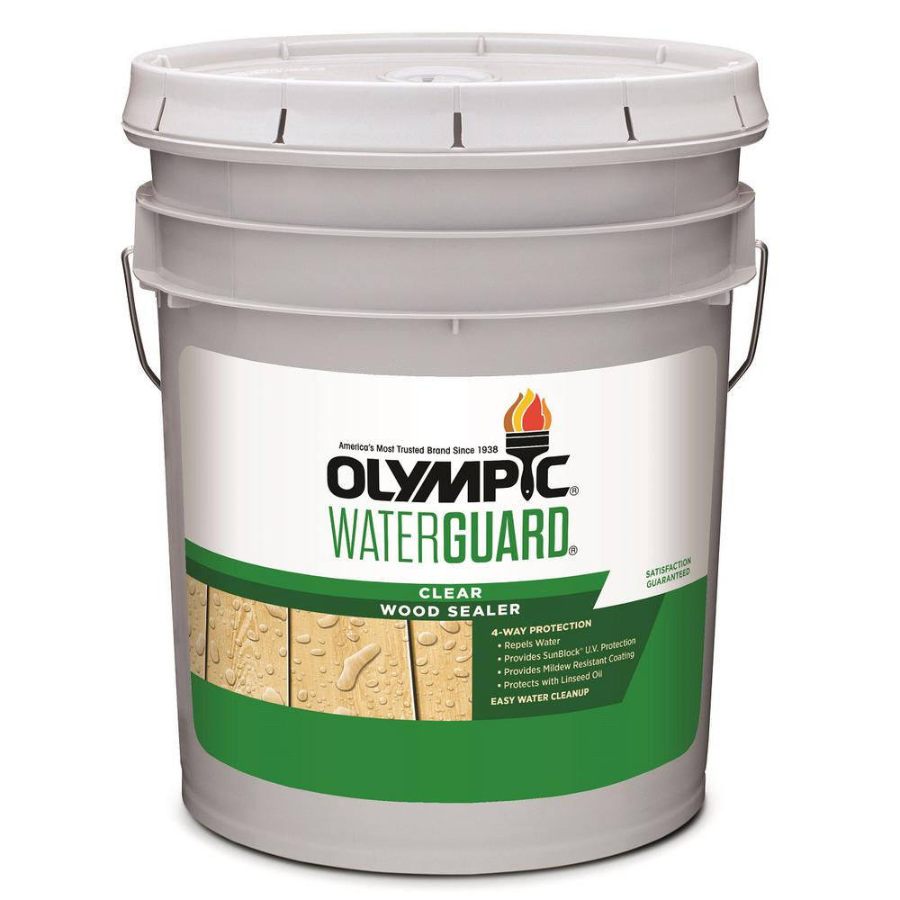 Olympic Waterguard 5 Gal Clear Wood Sealer 55260xi 05 The Home Depot