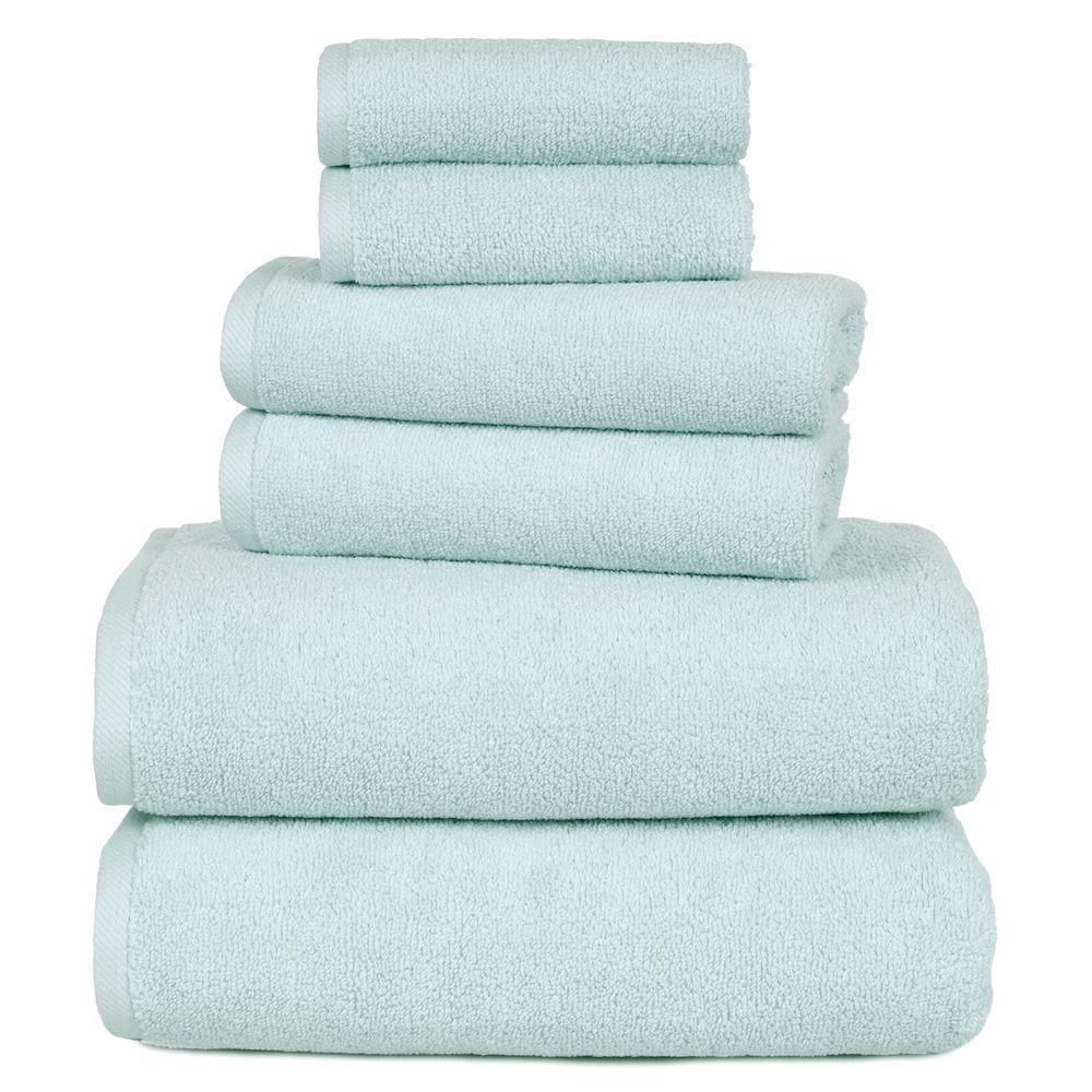 Charisma Bath Towels Seafoam: Lavish Home 100% Egyptian Cotton Hotel Towel Set In Green