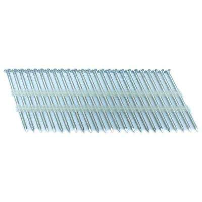2.5 in. x 0.113 in. 20-Degree Ring Stainless Full Round Head Plastic Strip Nails 4000 per Box