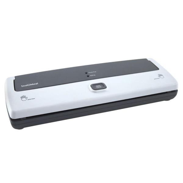 White Food Vacuum Sealer with Bags and Drip Tray