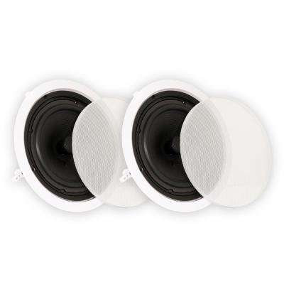 In-Ceiling 8 in. Speakers Home Theater Surround Sound Pair