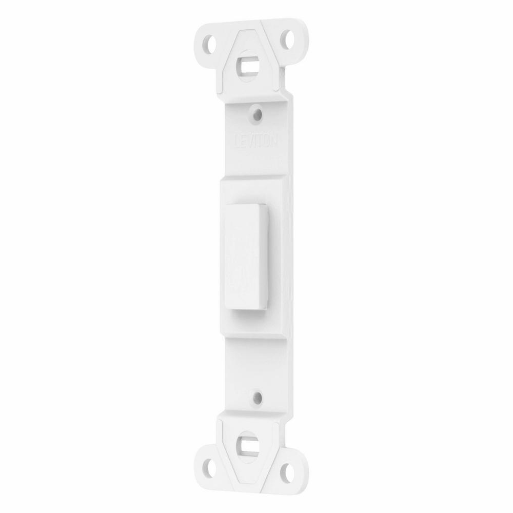 Leviton White 1-Gang Toggle Wall Plate (1-Pack)