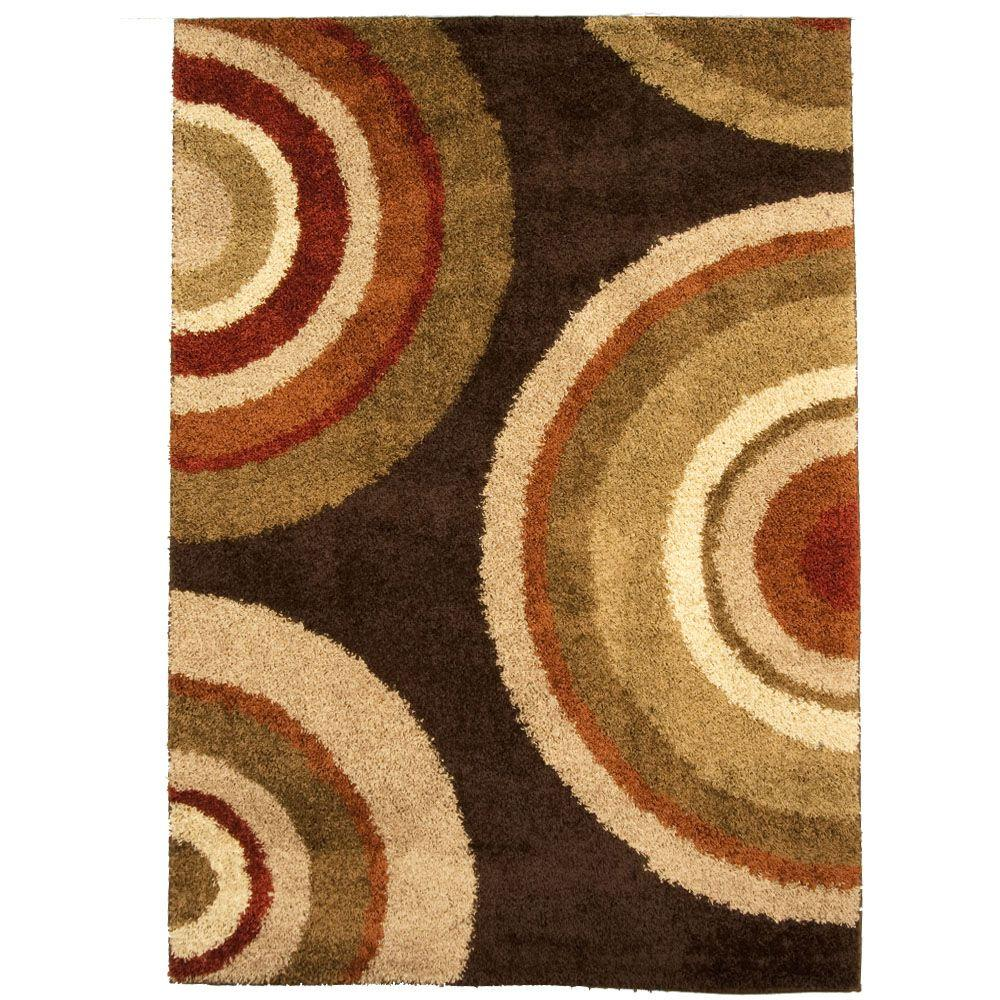 Orian Rugs Eclipse Brown 7 ft. 10 in. x 10 ft. 10 in. Area Rug
