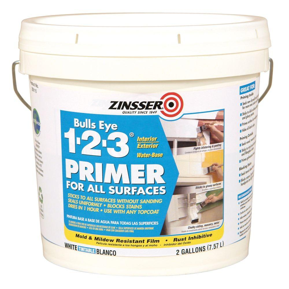 zinsser bulls eye 1 2 3 2 gal white water based interior exterior