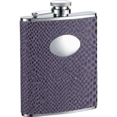 Purple Boa Snakeskin Pattern Liquor Flask