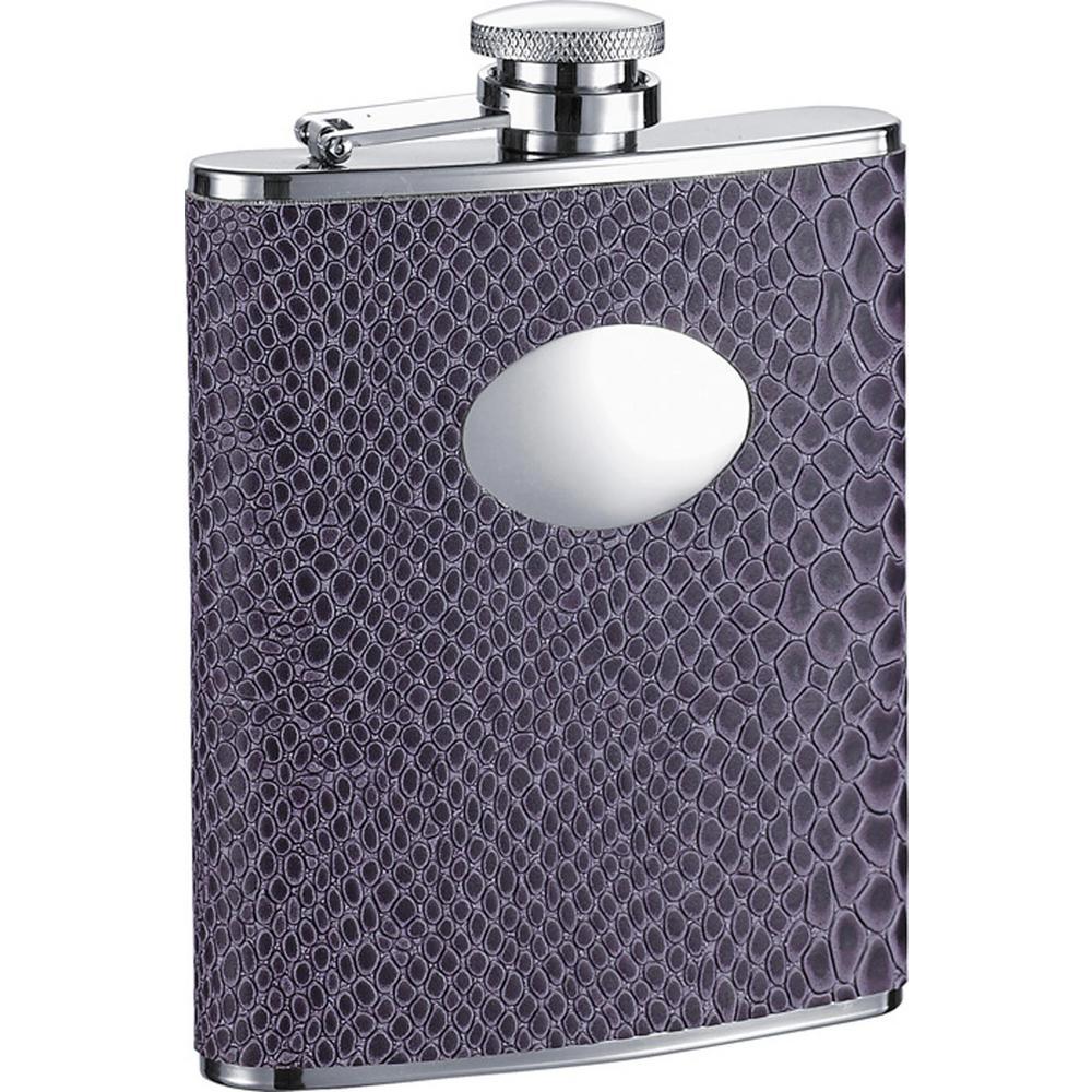Visol Purple Boa Snakeskin Pattern Liquor Flask VF1297