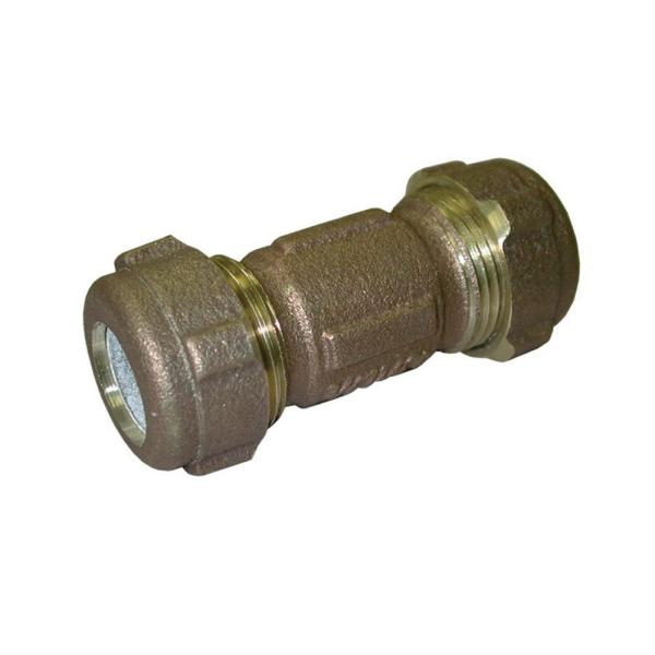 Jones Stephens 3 4 In Cts Or 1 2 In Ips Brass Compression Coupling Lead Free C15301 The Home Depot