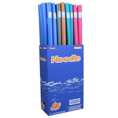 Assorted Swimming Pool Water Noodles (36-Pack)