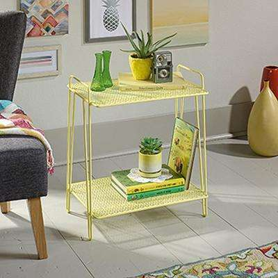Eden Rue Yellow Metal Accent Table