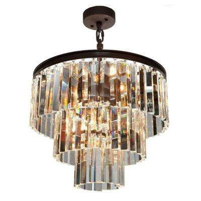Crystal filament design brown chandeliers lighting the montanari 6 light java brown chandelier aloadofball Gallery