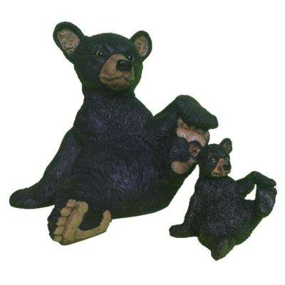 13 in. Bear and 6 in. Bear Cub Statue Combo Family Set