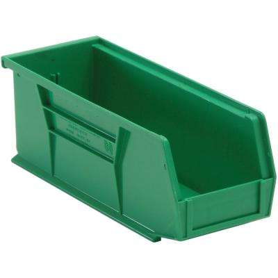 Ultra Series Stack and Hang 3.6 Gal. Storage Bin in Green (12-Pack)