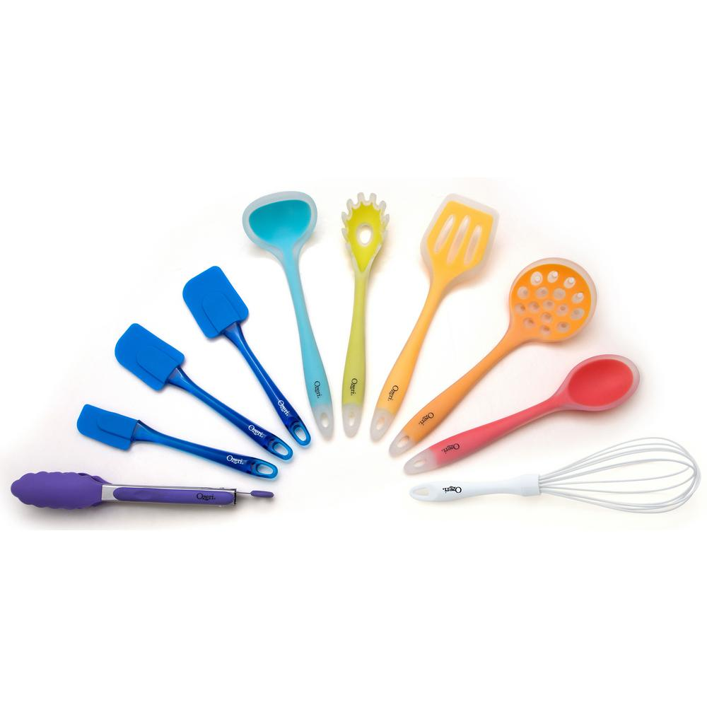 11-Piece All-In-One Silicone Utensil Set in Multicolor