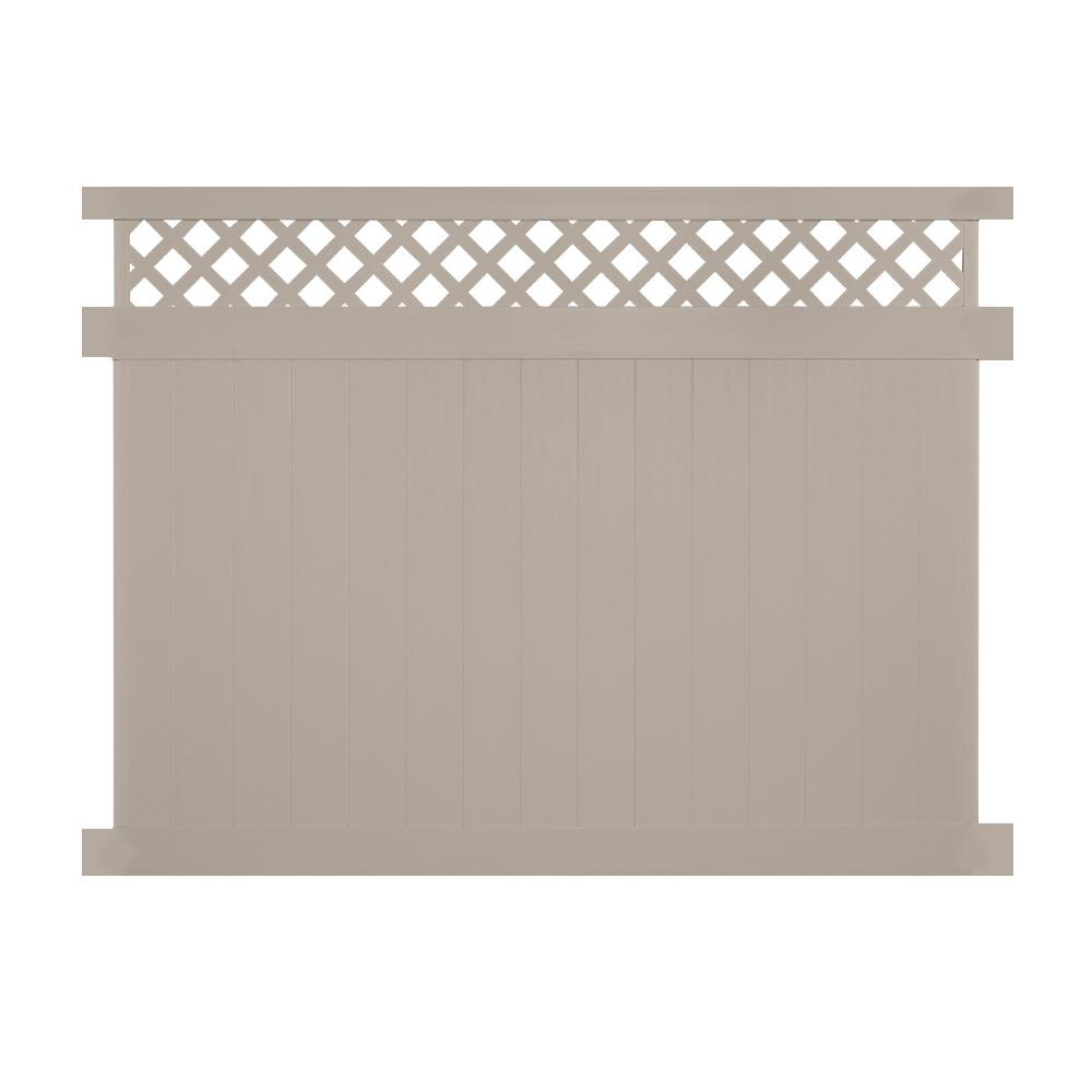 Ashton 5 ft. H x 6 ft. W Khaki Vinyl Privacy