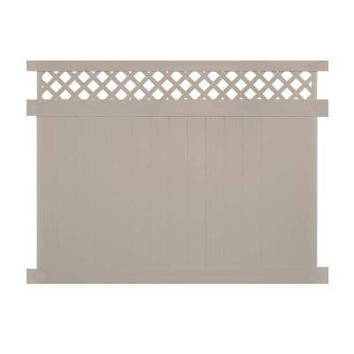Ashton 5 ft. H x 8 ft. W Khaki Vinyl Privacy Fence Panel Kit