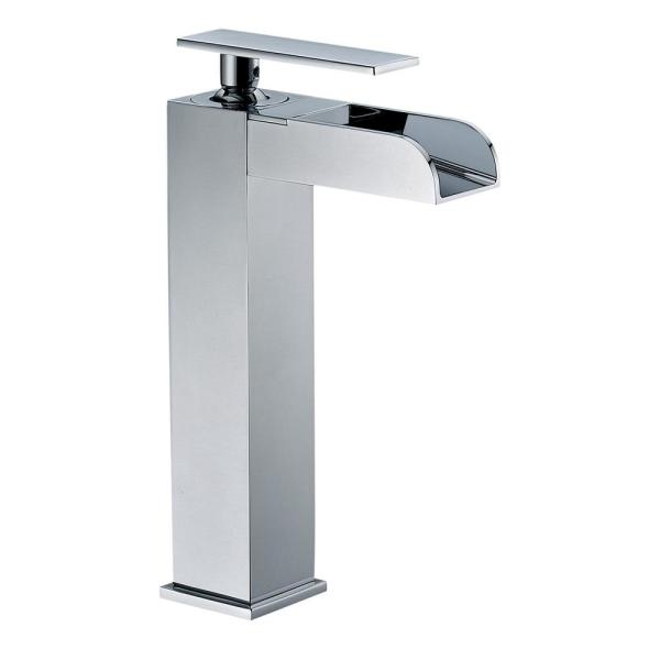 ALFI Brand AB1597-PC Polished Chrome Single Hole Tall Waterfall Bathroom Faucet