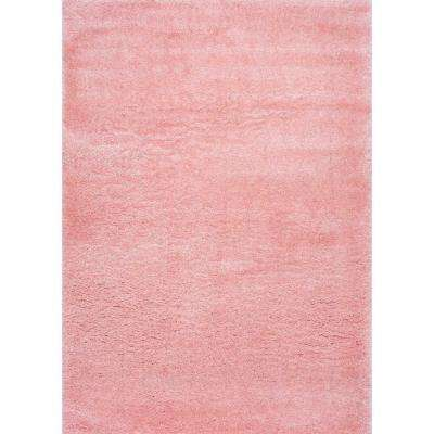 Gynel Cloudy Shag Baby Pink 8 ft. x 10 ft. Area Rug