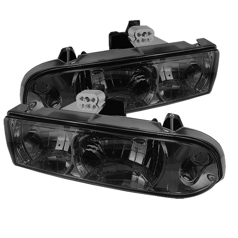 Chevy S10 98 04 Blazer 05 Crystal Headlights Smoke
