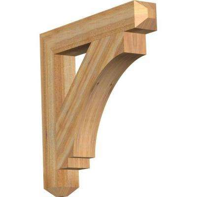 4 in. x 26 in. x 26 in. Western Red Cedar Imperial Craftsman Rough Sawn Bracket
