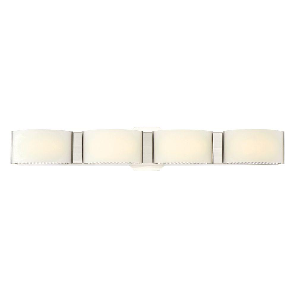 Eurofase Dakota Collection 4-Light Satin Nickel LED Bath Bar Light ...