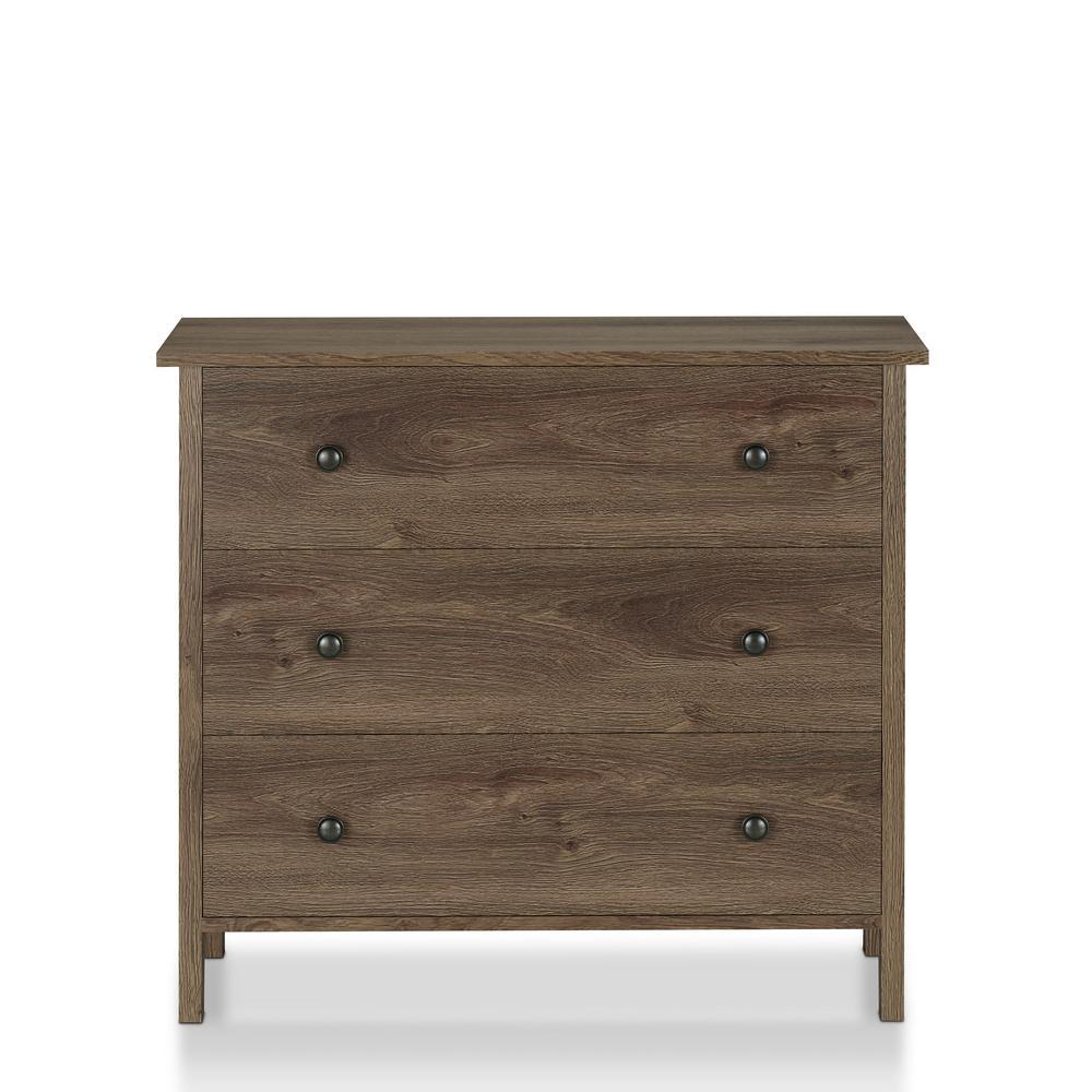 London 6-Drawer Distressed Walnut Dresser