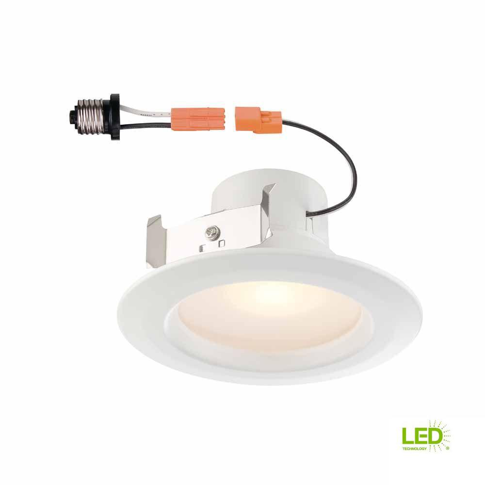 4 in. White Recessed LED Trim with 90 CRI, 4000K