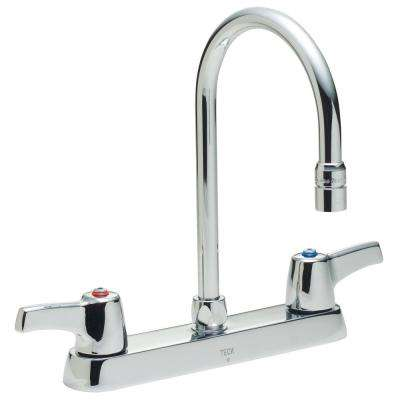 2-Handle Standard Kitchen Faucet in Chrome