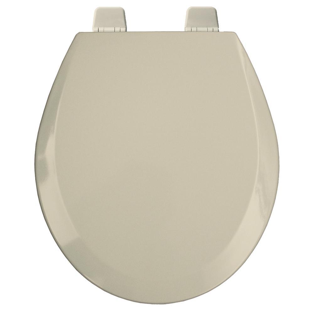 Round Open Front Toilet Seat in Bone