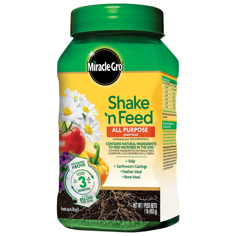 Miracle gro shake 39 n feed 1 lbs all purpose plant food - Miracle gro all purpose garden soil ...
