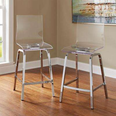 Beau Chrome Swivel Bar Stool (Set Of 2)