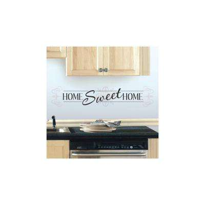 5 in. x 11.5 in. Home Sweet Home 3-Piece Peel and Stick Wall Decal