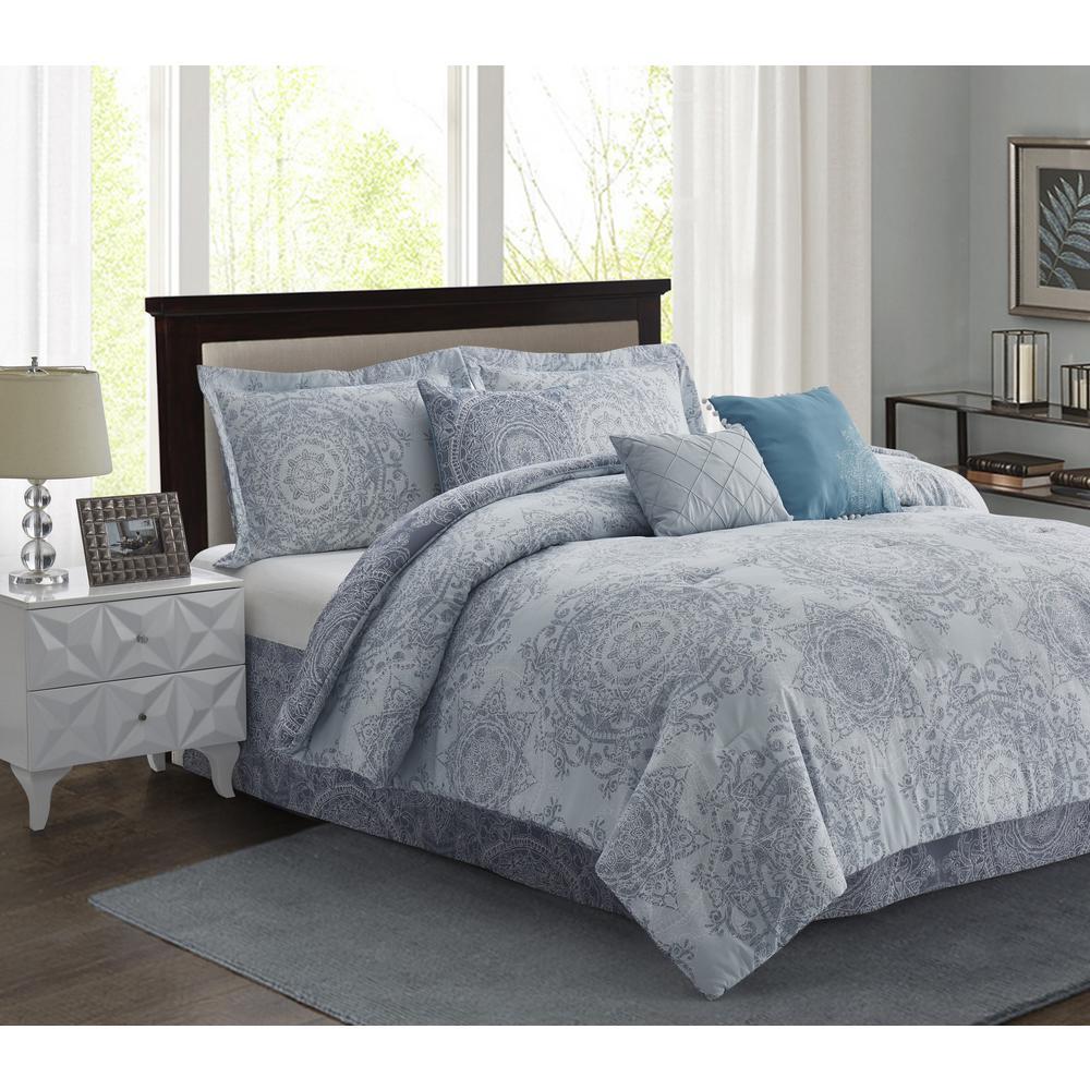 Lavish Home Amanda Purple 24 Piece Queen Comforter Set 66