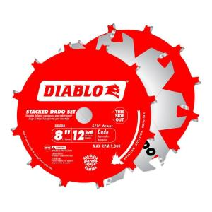 Diablo 8 In X 12 Tooth Stacked Dado Saw Blade Set Dd208h