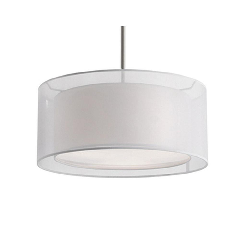 Radionic Hi Tech Ophelia 2-Light Brushed Nickel Pendant