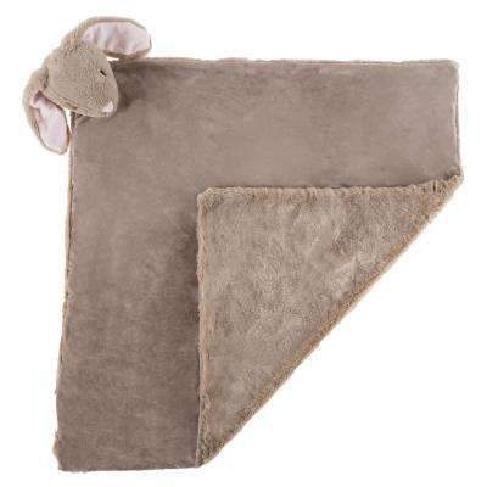 Plush Gray Bunny Buddy Baby Blanket