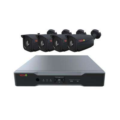 Aero HD 8-Channel 5MP 1TB Surveillance System with 4 Wired Cameras