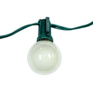 Party Light 25 ft. 24-Light String Light with Frosted Bulb by