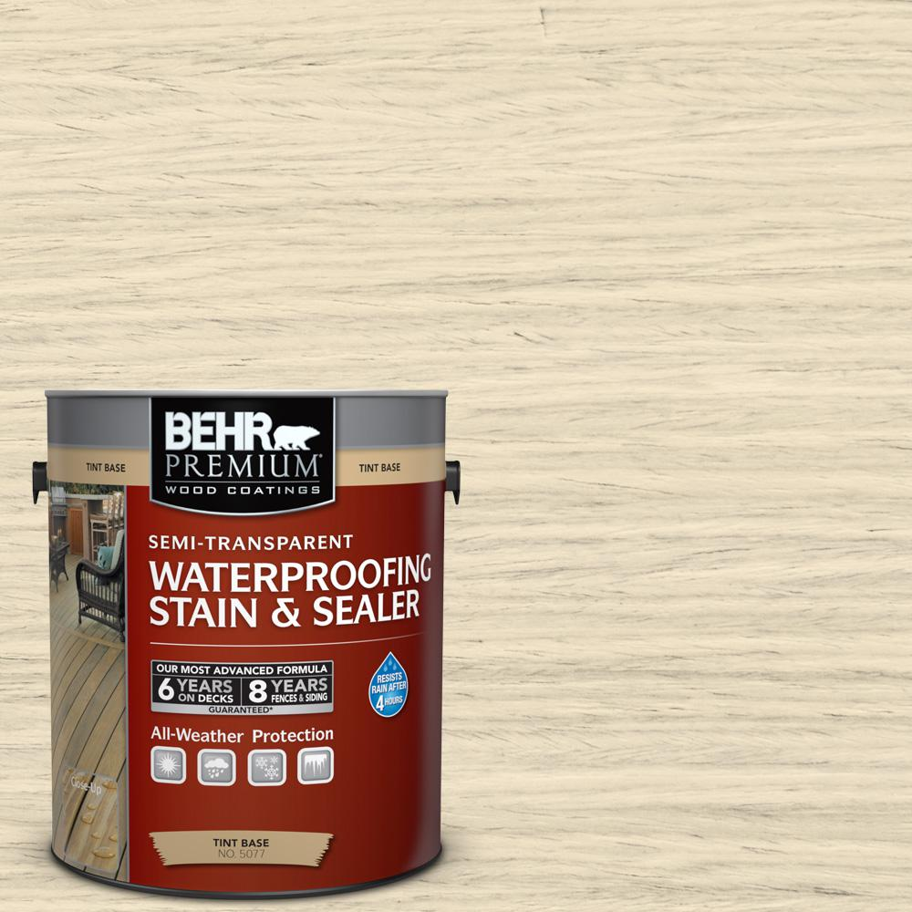 1 gal. #ST-157 Navajo White Semi-Transparent Waterproofing Exterior Wood Stain