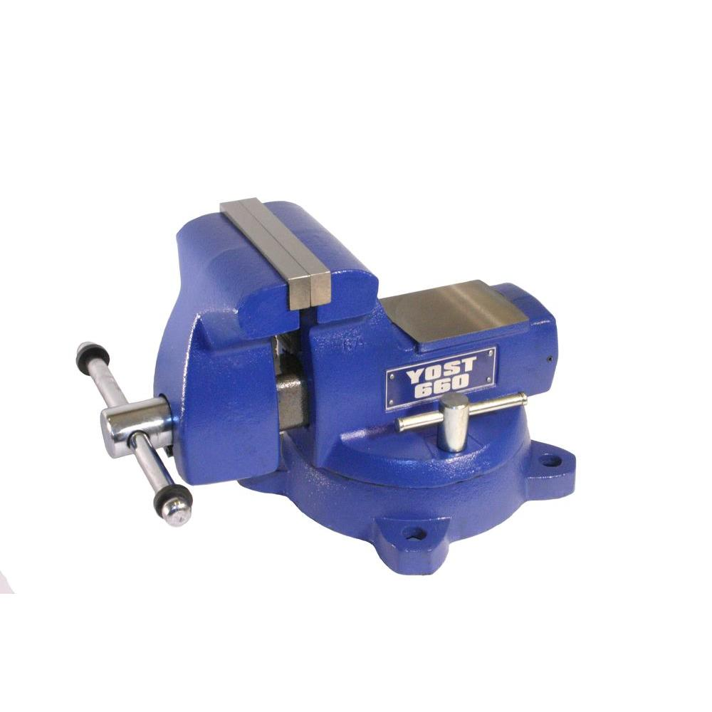 6 in. Combination Pipe and Bench Mechanics Vise with Swivel Base