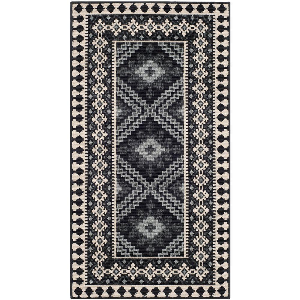 Safavieh Veranda Black/Creme 3 ft. x 5