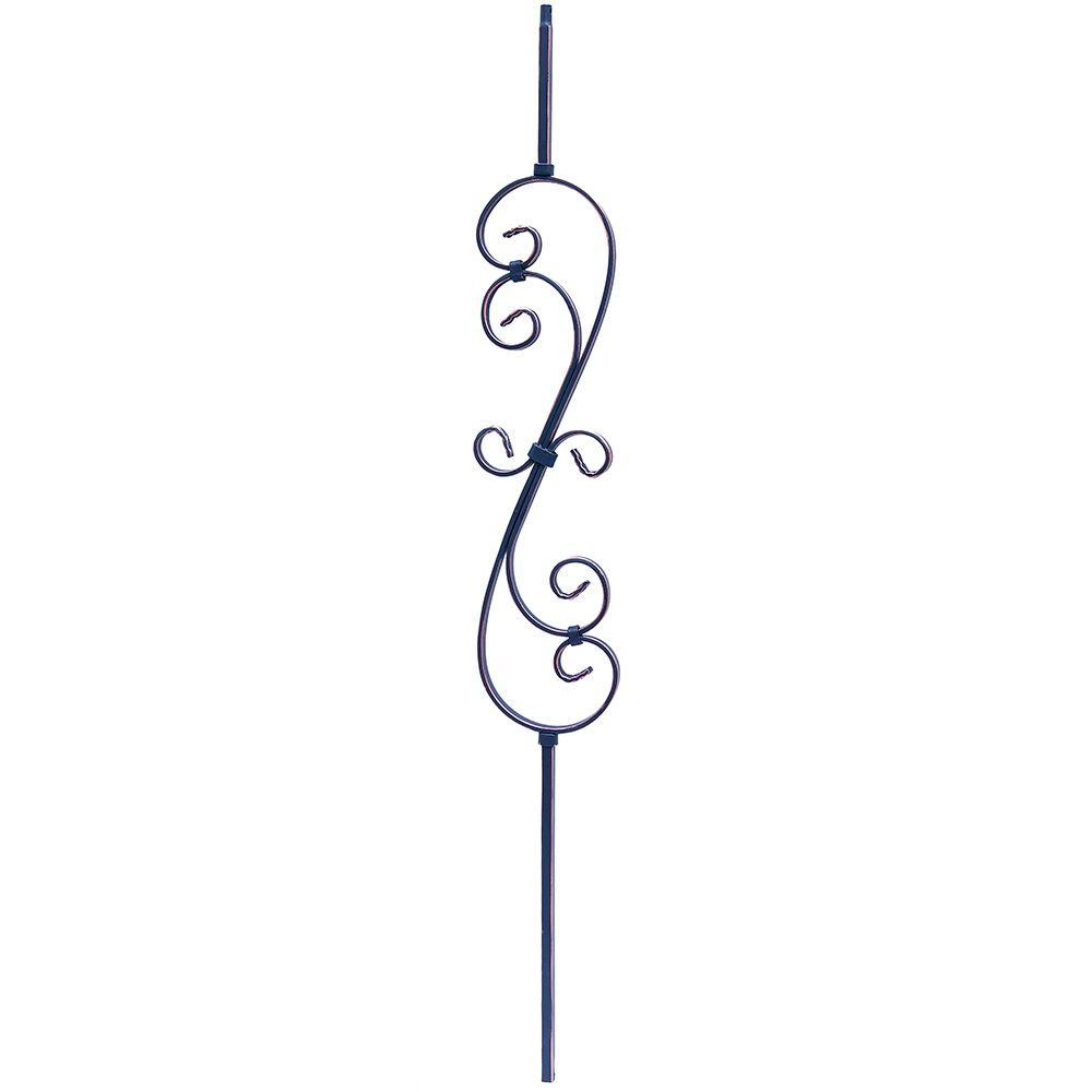 Oil Rubbed Copper Scroll Metal Baluster