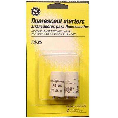 22-Watt and 25-Watt Fluorescent Lamp Starters (2-Pack)