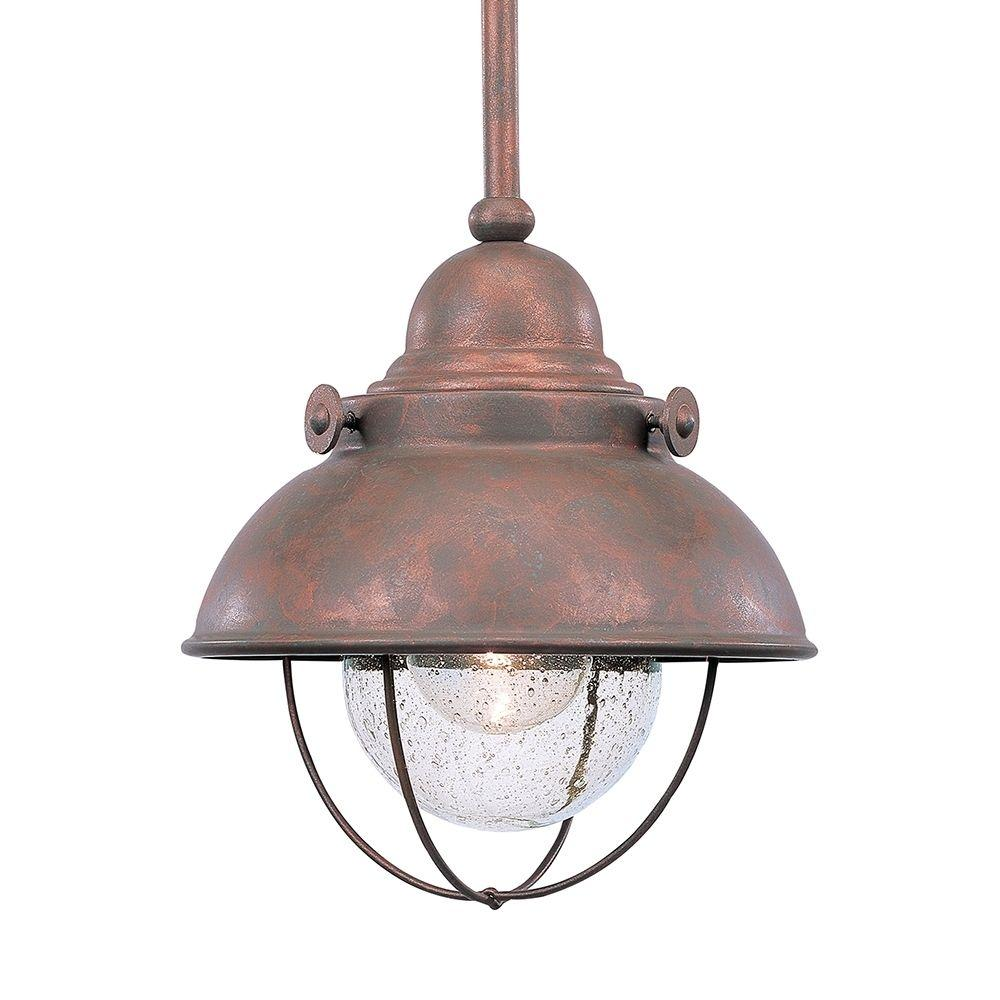 sea gull lighting sebring 9 watt weathered copper integrated led