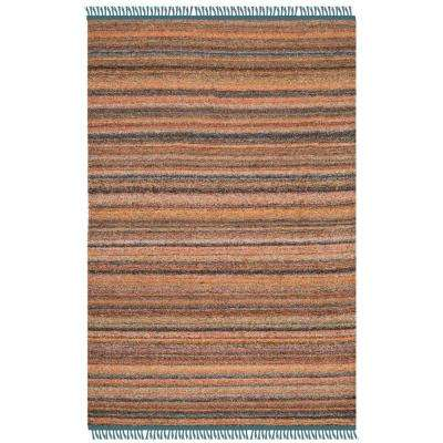Kilim Light Pink/Gray 4 ft. x 6 ft. Area Rug