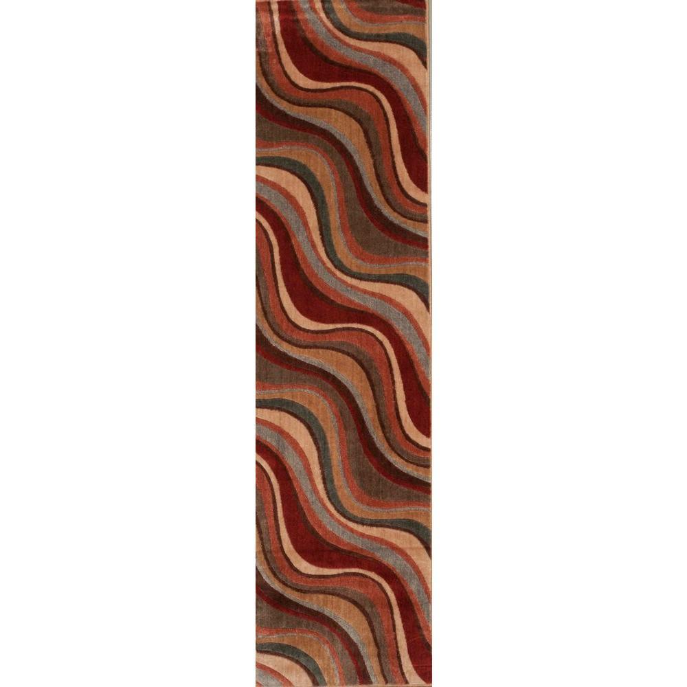 Rhythm Multicolor 2 ft. x 8 ft. Runner Rug