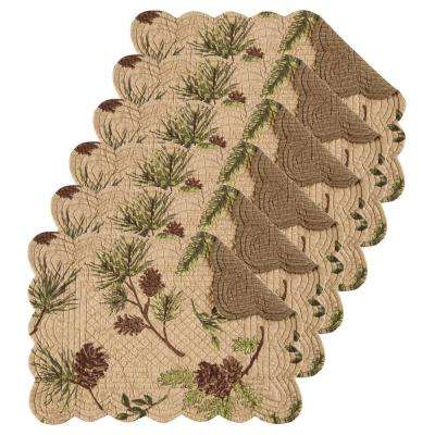 Woodland Retreat Tan Placemat (Set of 6)
