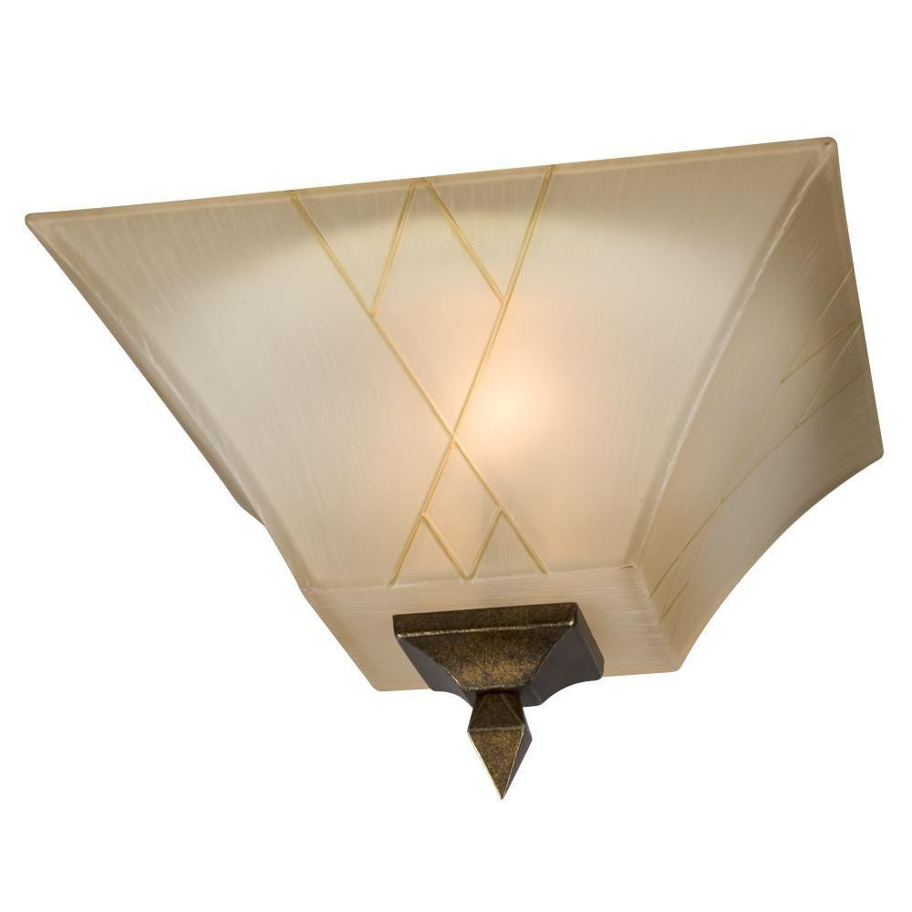 Filament Design Negron 2-Light Olde World Gold Incandescent Flush Mount