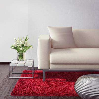 City Sheen Red 7 Ft X 9 Area Rug
